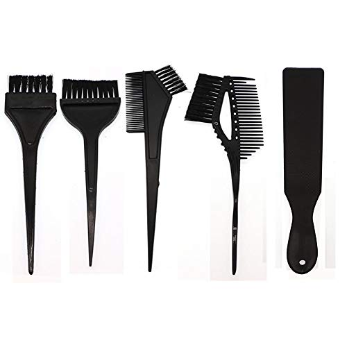 Febelle Haarfarbe, Kamm, Bürsten zum Färben von Haaren, Schwarz, 5 Stück -