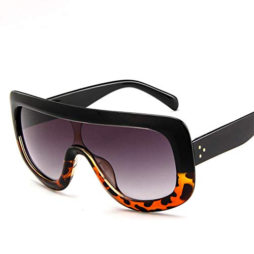 WTACK Large Frame Leopard Sonnenbrille DamenMann/DamenSonnenbrilleClassic Vintage Shopping UV400 Outdoor