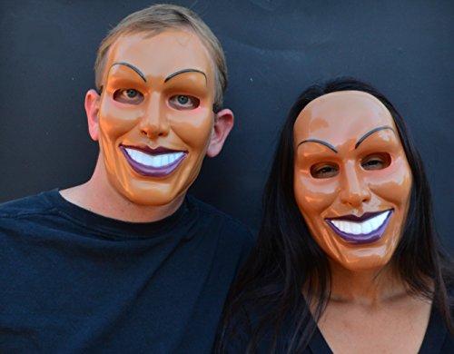 y Creepy Halloween die Purge Maske (Stecker und Buchse Set) (Weiblich Halloween Maske)