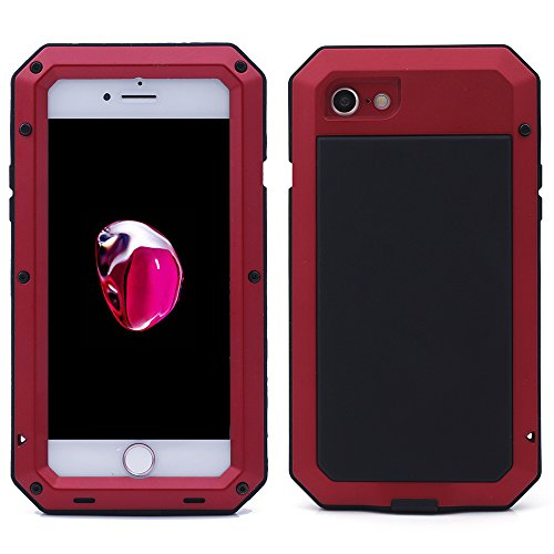 iProtect Apple iPhone 7 Outdoor Case Schutzhülle Hartglas Shock- and Dirtproof in rot Apple iPhone 7 Case Shockproof Rot