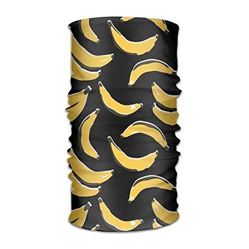 Vidmkeo Halstuch Gelbe Banane Frucht Multifunktionale Bandanas für Männer Frauen Schweißband Elastische Turban Headwear Kopftuch Multicolor3 - Frauen Frucht