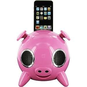 Amethyst - Enceinte dédiée MP3 - iPig Pink - Enceintes avec dock pour iPod et iPhone