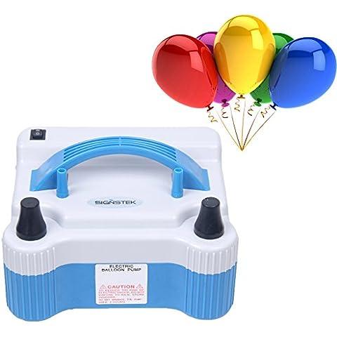 Pompa elettrica portatile, doppio beccuccio, alta potenza, per palloncini, volume di aria/min 18.000 Pa 1.000 L