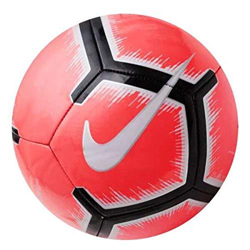 Nike Pitch Pallone da Calcio, Unisex, SC3316-671, Bright Crimson/Pure Platinum/Black, 5