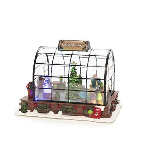 Konstsmide Lichterkette Blumenladen Deko/Batteriebetrieben 3xAAA (exkl.)/Weihnachtsszene, bunte Dioden
