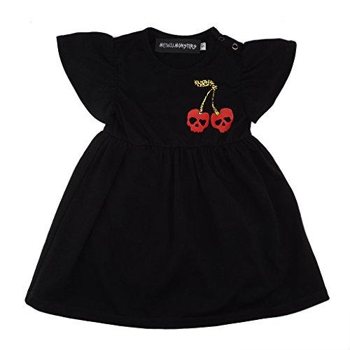 Metallimonsters Baby Mädchen (0-24 Monate) Kleid Schwarz Schwarz (Für Mädchen Skulls)
