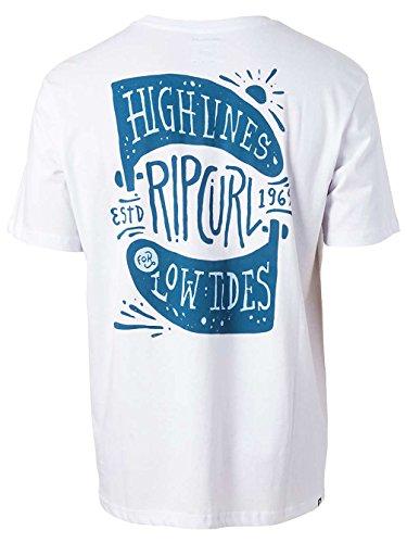 Rip Curl High Lines Tee Shirt Optical White
