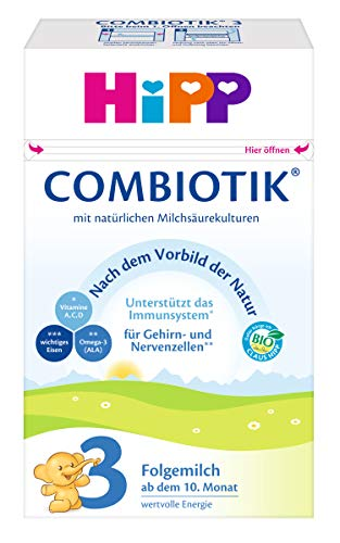 HiPP 3 Bio Combiotik, Folgemilch ab dem 10. Monat, 4er Pack (4 x 600 g)