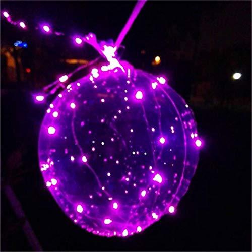 PowerBH 1PC LED Party Dekoration Farbe Leuchtende Ballon Dekoration Leuchtende Ballon Transparente Runde Blase Dekoration Weihnachten Halloween Party Hochzeit Haus Dekoration