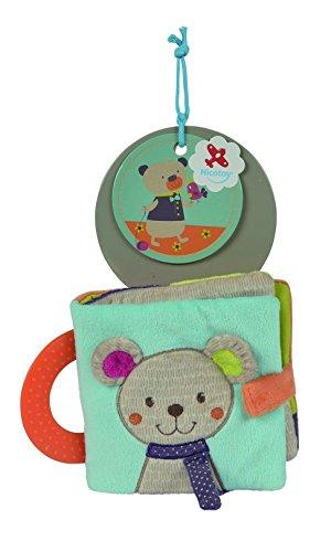 Simba 6305793598 - Nicotoy Baby Knisterbuch Bär Gary 22cm bunt