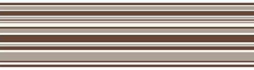 Fine Decor - Bordo adesivo a righe orizzontali, 150 mm,...