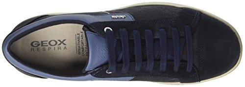Geox U Warrens A, Sneakers Basses Homme Bleu (Navyc4002)