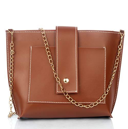 Mammon latest Stylish trendy sling bag for girls/Woman (Tan)