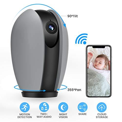 1080P HD Überwachungskamera, MECO ELEVERDE WLAN IP Kamera mit Nachtsicht, Zwei-Wege Audio, Bewegungserkennung und Fernalarm, Sicherheitskamera Home Indoor-Kamera für Haustier/Baby Monitor