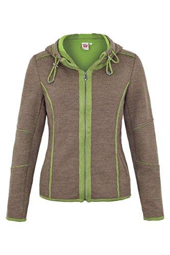 75b115ffede8 Damen Spieth   Wensky Damen Sweatjacke mit Kapuze  Hoamatgefühl  braun grün,  braun-
