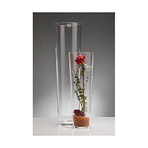 -cut Vase Glas Blumenvase Tischvase konisch groß, 70 cm ()