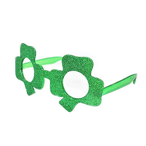 ANLW Shamrock Green Glasses Irish St. Patrick es Day Girl Boy Party Decorations