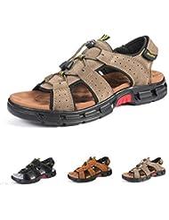 official photos 4088f a7dc8 Gracosy Sandales de Randonnée Hommes, Chaussures de Marche Sports Été en  Cuir Synthétique Bout Ouvert