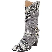 ef1e9ebb9 Zapatos de Fiesta Mujer Invierno ZARLLE Moda Zapatos Mujer Invierno 2019 Mujer  Botas Serpiente Tacones Altos