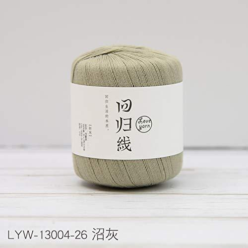 Simmia Home Spitze Baumwolle Faden häkeln Linie DIY Hand Stricken Haken Blume feine Wolle color341 -