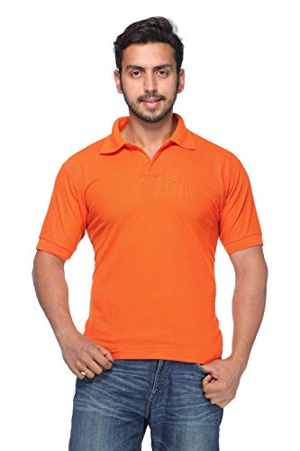 Demokrazy Men's Orange Polo T-Shirt