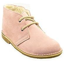 a66f8587d2a 807FB - Bota safari con forro borreguillo rosa bebé