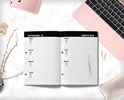 Agosto 2020 Calendario.Libro Agenda Scuola 2019 2020 Agenda Settimanale Agosto