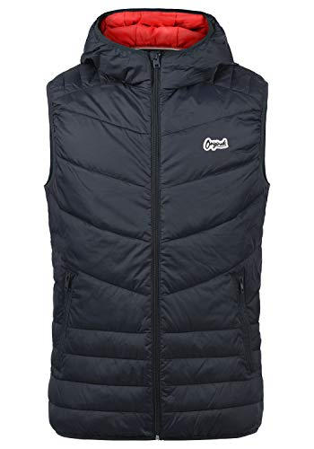 JACK & JONES Originals Jasso Herren Weste Steppweste Outdoor Weste Mit Kapuze, Größe:L, Farbe:Total Eclipse