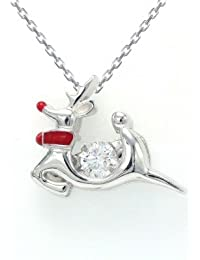 Rudolph The Red Nose Reindeer Necklace, Necklace For Women- By Ornate Jewels