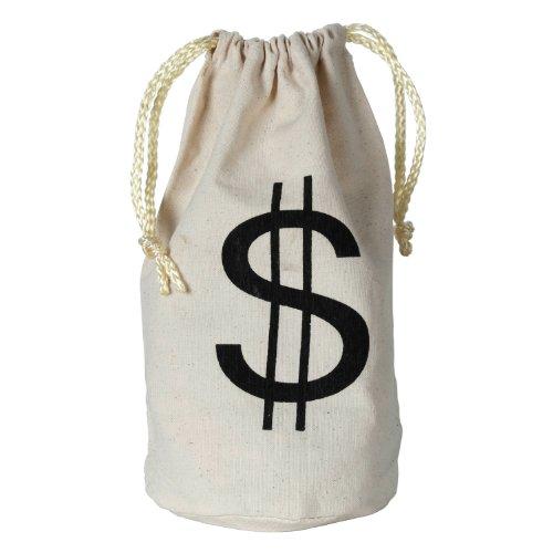 White Canvas Tote Bag (Beistle Tasche mit Dollar Zeichen, und College Fonds, 8–1/2Zoll von 6–1/2Zoll)