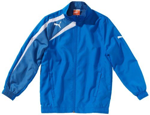 Puma Cat Woven Jacket (PUMA Kinder Jacke Spirit Woven Jacket, Puma Royal/Delft Blue/White, 128, 653584 02)