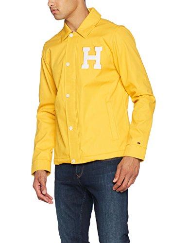 Hilfiger Denim Herren Jacke Thdm Varsity Coach Jacket 14, Gelb (Spectra Yellow), Small