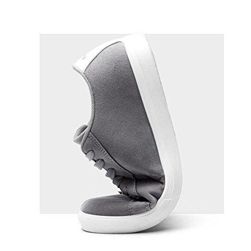 XUEQIN Tendenza delle scarpe da uomo Scarpe casuali degli uomini britannici di autunno Il nuovo comodo da indossare ( Colore : Grigio , dimensioni : EU41/UK7.5-8/CN42 ) Grigio