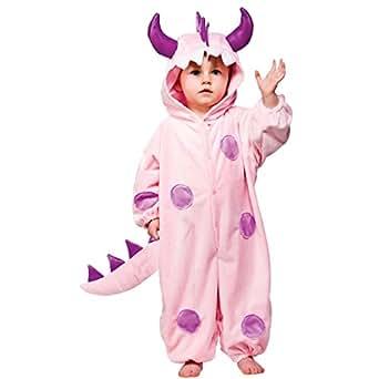 Costume de monstre rose. 12-18 mois. Tissu Supersoft. Hauteur 85cm.