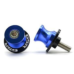 Motorrad CNC Aluminium Ständeraufnahme M8*1,5 Bobbins Montageständer für Suzuki GSR 400 600 750 1000 (Blau)