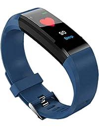 Slri Reloj Inteligente Deportivo ID115 Plus Podómetro Impermeable Rastreador de Ejercicios Pulsera - Azul