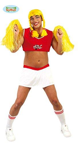 KOSTÜM - TRAVESTIE CHEERLEADER - Größe 52-54 (L), Transvestit männliche Tänzerin Tänzer (Transvestit Kostüme)
