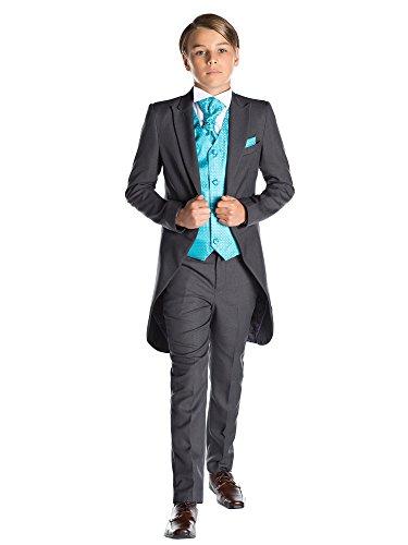 Paisley of London, Jungen Grau Kostüm zu Schwanz, Jungen Morning Halt, Jungen Stinkefinger Halt, 12-18Monate-13Jahre Gr. 4 Jahre, Tourqoise (Schwanz Kostüm Muster)