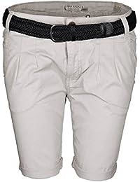 Urban Surface Damen Short kurze Hose Sommer Bermuda Chino Shorts inkl. Gürtel B449