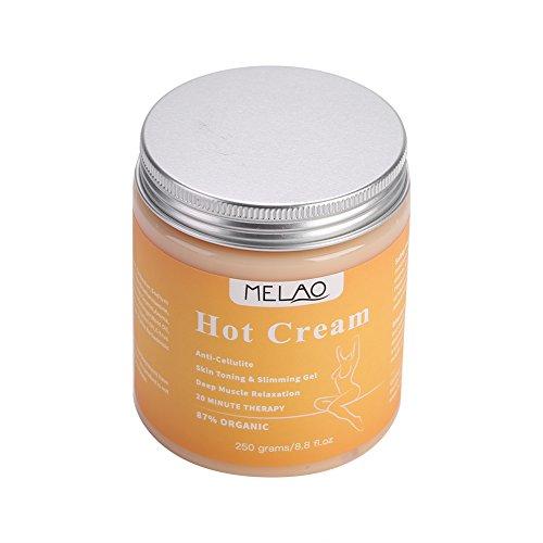 250 g Cellulite Hot Cream, Fat Burner Schlankheitscreme Massage Anti-Cellulite Schlankheitsserum Chilli Fat Burner Massagecreme für die Ganzkörper-Gewichtsabnahme Schlanker extrem straffender Bauch -