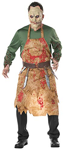 Metzger Kostüm Blutige - Aida Bz Halloween-Kostüme, Blutige Metzger, Europäische Und Amerikanische Köche, Cos Kleidung, Männer Blut, Zombies,Natural,OneSize