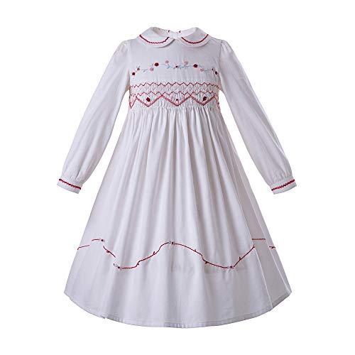 Ju petitpop Girls Smocked Tee-Länge Kleid entworfen Summer White Colorm 4 Jahre -