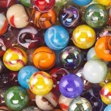 """Mega Marbles SET OF 12 ASSORTED 0.625"""" (approx) SHOOTER MARBLES"""