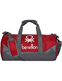 c6b496cd74 United Colors of Benetton Gym Bag Polyester 44 cms Red Grey Gym Shoulder Bag  (