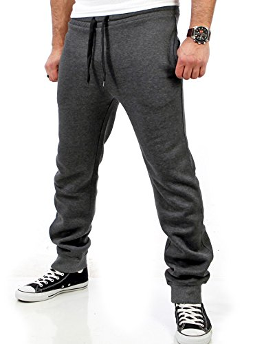 Reslad Herren Jogginghose Sweatpants RS-5060 (M, Anthrazit)