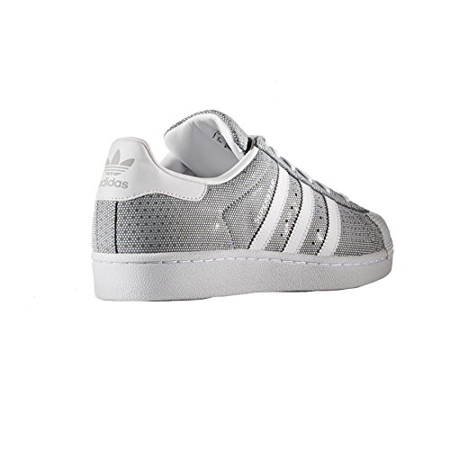 adidas Superstar W, Sneakers Basses Femme Gris (Clonix/ftwwht/ftwwht)