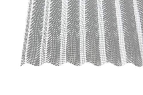 Acryl Wellplatten Profilplatten Sinus 76/18 wabe Struktur klar 3 mm (4000 x 1045 x 3 mm)