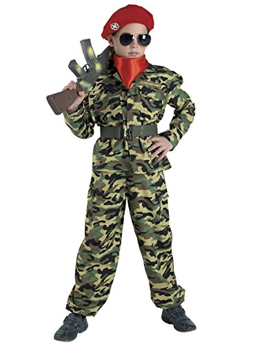 (Chiber - Militär Kostüm Militärkostüm Soldat Kinderkostüm (Größe 6))