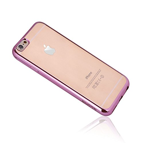 Dokpav® Coque Etui Case Cover Support Antichoc Antipoussière Waterproof pour Smartphone iPhone 6S verte Soft series-rose