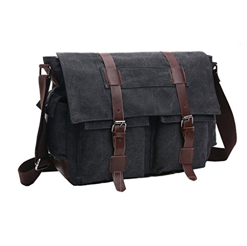 Super moderno vintage messenger bag borsa di tela militare Leisure borsa a tracolla viaggio borsa a tracolla Blue1